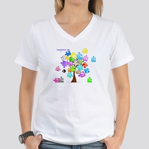 Family Tree Jigsaw Women's V-Neck T-Shirt