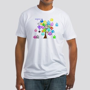 Family Tree Jigsaw Fitted T-Shirt