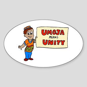 Umoja means Unity - Kwanzaa Oval Sticker
