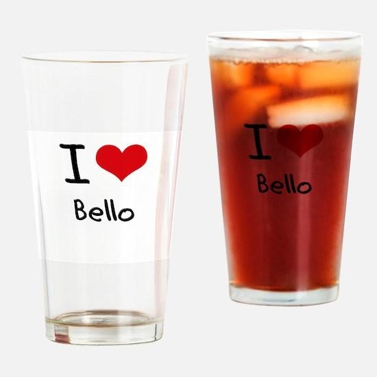 I Love Bello Drinking Glass