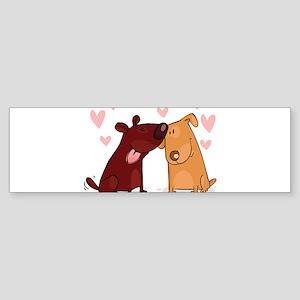 Love Dogs Bumper Sticker