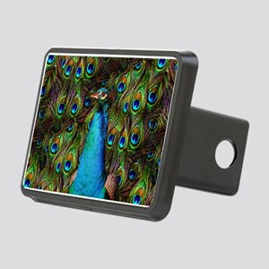 Peacock Watch! Rectangular Hitch Cover
