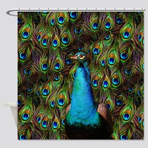 Peacock Watch! Shower Curtain