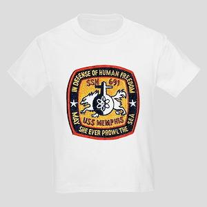 USS Memphis SSN 691 Kids T-Shirt
