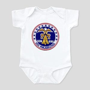 USS Philadelphia SSN 690 Infant Bodysuit