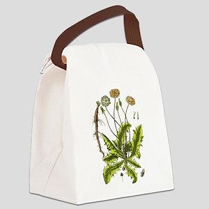 Botanical Dandelion Canvas Lunch Bag