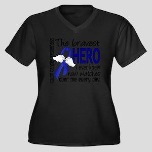 Bravest Hero I Knew Colon Cancer Plus Size T-Shirt