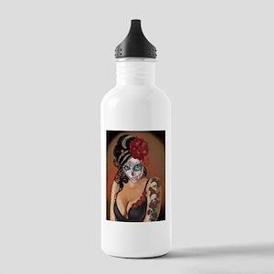 Skulls and Roses Muertos Water Bottle