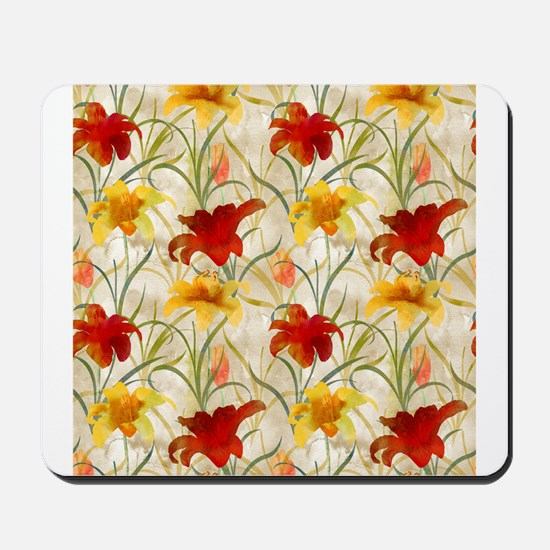Painted Lilies Mousepad
