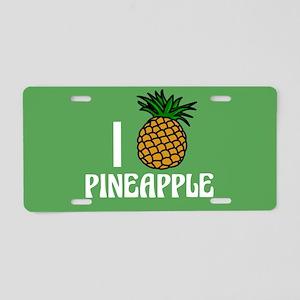 Pineapple Love Aluminum License Plate