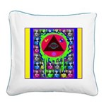 Atomic Animal Sciences Square Canvas Pillow