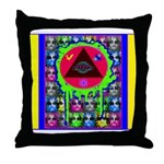 Atomic Animal Sciences Throw Pillow