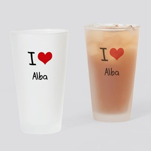 I Love Alba Drinking Glass