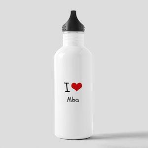 I Love Alba Water Bottle