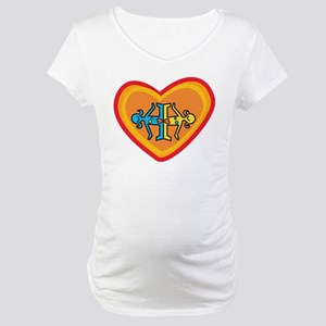 Girls heart Maternity T-Shirt