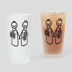 Lesbian wedding Drinking Glass
