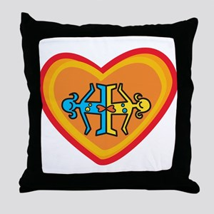 Girls heart Throw Pillow