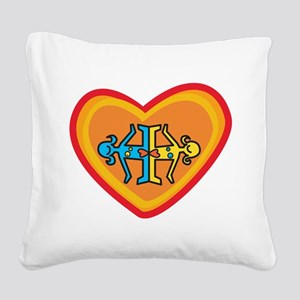 Girls heart Square Canvas Pillow