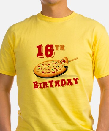 16th Birthday Pizza Party T