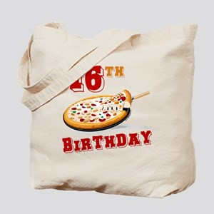 16th Birthday Pizza Party Tote Bag