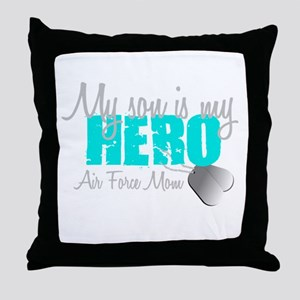 AF Mom Son is my Hero Throw Pillow