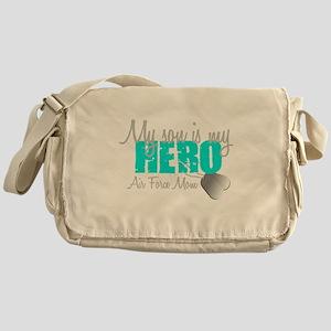 AF Mom Son is my Hero Messenger Bag