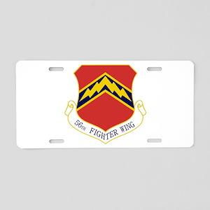 56th FW Aluminum License Plate