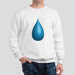 3d rendered droplet of water Sweatshirt