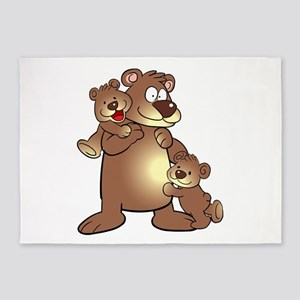 Family of Bears 5'x7'Area Rug