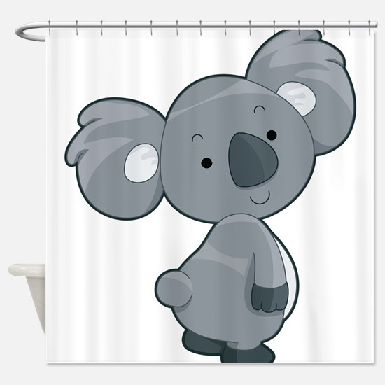 Cute Gray Koala Shower Curtain