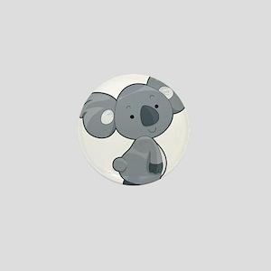 Cute Gray Koala Mini Button