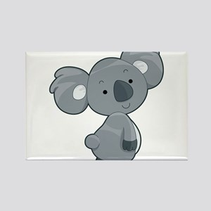 Cute Gray Koala Rectangle Magnet