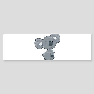 Cute Gray Koala Bumper Sticker