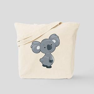 Cute Gray Koala Tote Bag