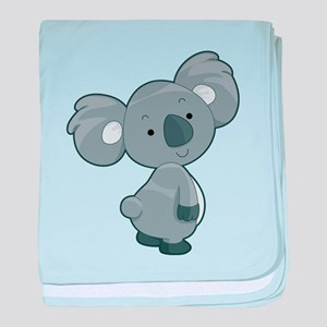 Cute Gray Koala baby blanket