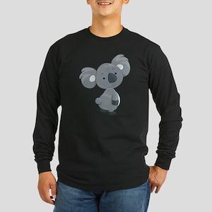 Cute Gray Koala Long Sleeve T-Shirt
