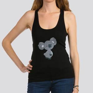 Cute Gray Koala Racerback Tank Top