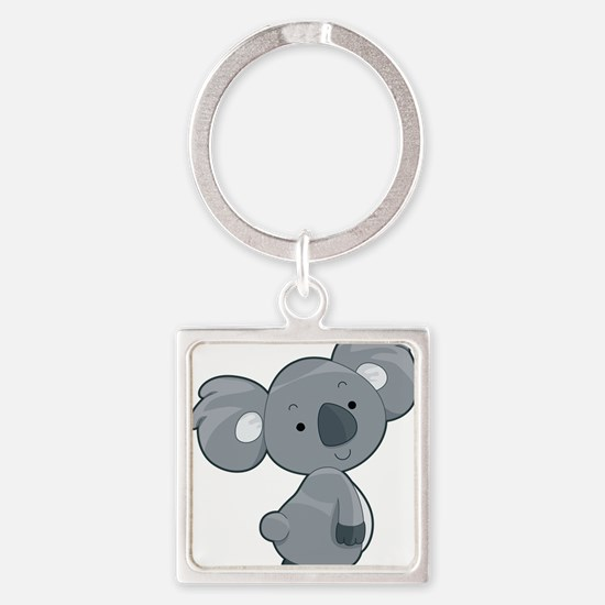 Cute Gray Koala Keychains