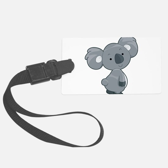 Cute Gray Koala Luggage Tag