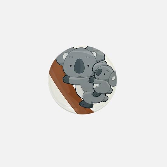 Two Koalas Mini Button