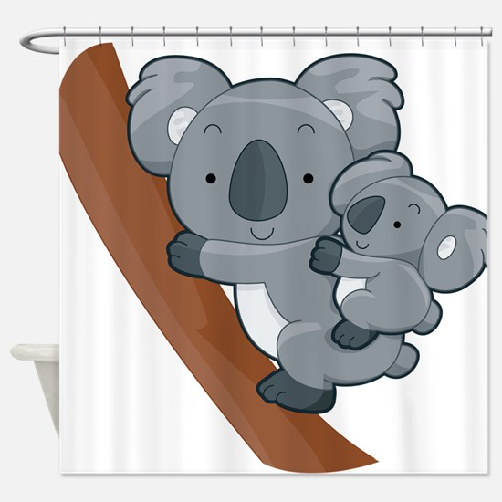Two Koalas Shower Curtain