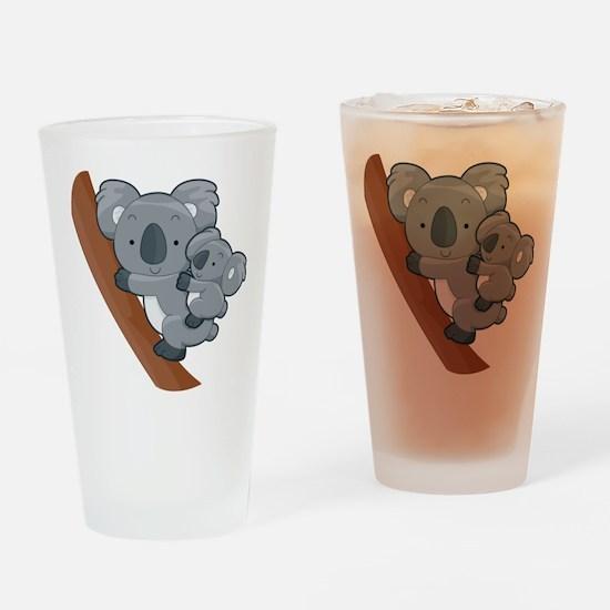 Two Koalas Drinking Glass