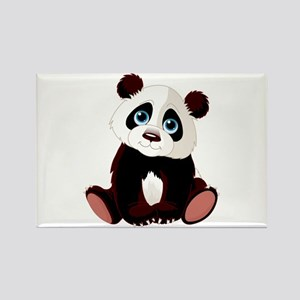 Baby Panda Rectangle Magnet