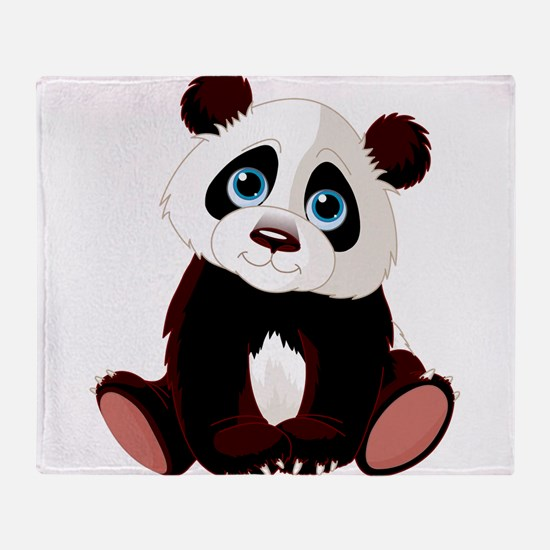 Baby Panda Throw Blanket
