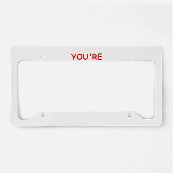 bastard License Plate Holder