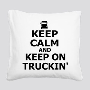 Keep on Truckin' Square Canvas Pillow