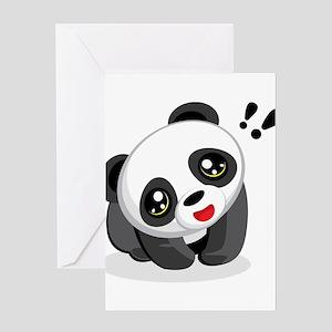 Excited Panda Greeting Card