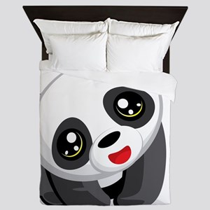 Excited Panda Queen Duvet