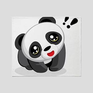 Excited Panda Throw Blanket