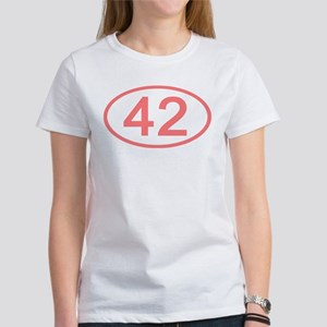 Number 42 Oval Women's T-Shirt